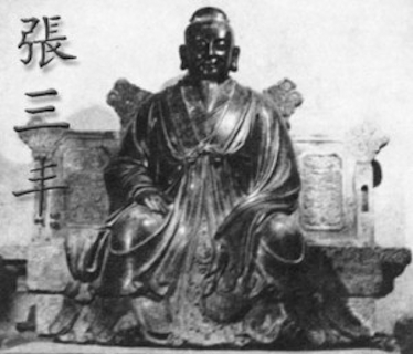 Zhang Sanfeng on a throne