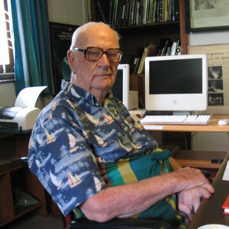 Arthur C. Clarke at home in Sri Lanka