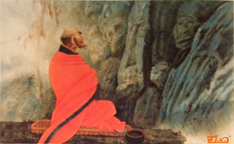 Bodhidharma in Meditation at Shaolin Temple Cave
