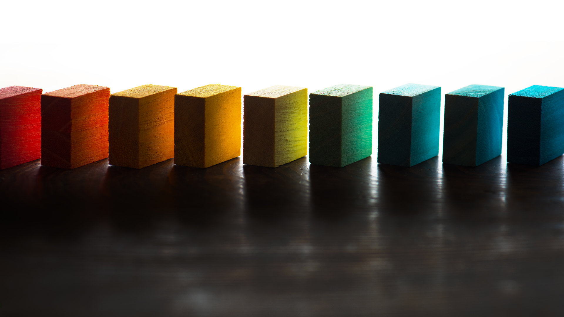 Colored blocks representing categories or types of practice