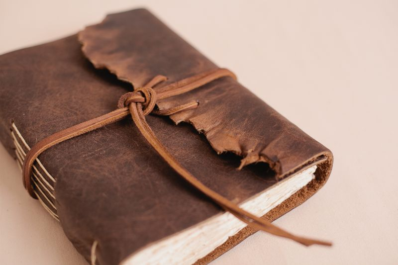 Keith Hobson's old leather journal