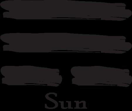 Sun is the wind trigram