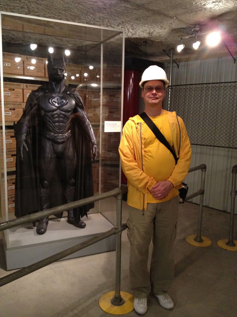 The evolution of Batman at the Underground Salt Museum